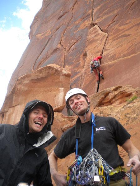 Rock Climbing Photo: Photobombing mavericks at 'Maverick Buttress'!