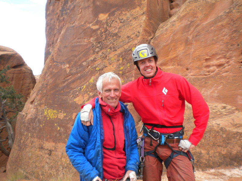 Rock Climbing Photo: At Maverick Buttress with Jim Donini