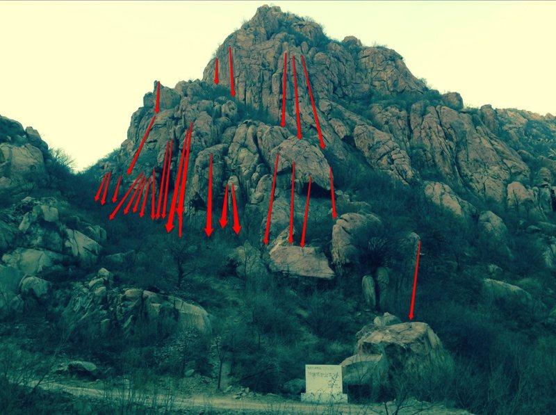 北京后花园 后白虎涧<br> Tree Spring Wall, Changping, P.R. China