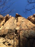 Rock Climbing Photo: 北京后花园 后白虎涧 Tree Spring Wall, Cha...