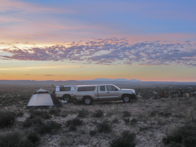 Camp at Two Finger Canyon