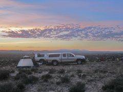 Rock Climbing Photo: Camp at Two Finger Canyon