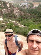 Rock Climbing Photo: 北京后花园 后白虎涧 Main Wall, 4 pitch cl...