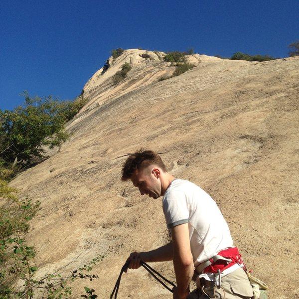 Rock Climbing Photo: 北京后花园 后白虎涧 Main Wall, 4 pitches,...