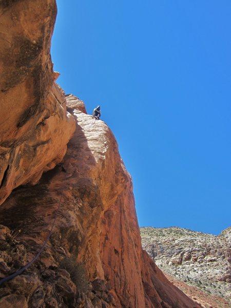 Rock Climbing Photo: On the arete