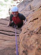 Rock Climbing Photo: P.Ross topping out.