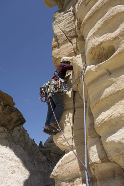 Rock Climbing Photo: Roy starting, but not in the best spot. See the ve...