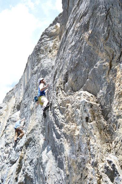 Rock Climbing Photo: Jeff cruxing out.