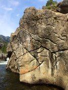 "Rock Climbing Photo: ""Watercolor wall"" in spring. Landing zon..."