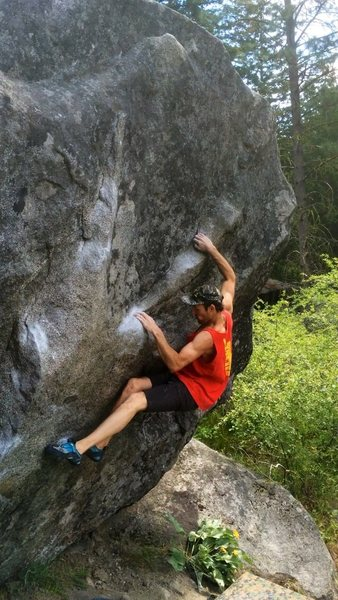 Rock Climbing Photo: Yosemite highball. Great moves, awesome stone, sce...