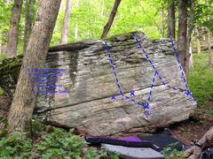 Rock Climbing Photo: face of boulder