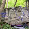 face of boulder