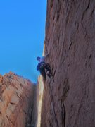 Rock Climbing Photo: Starting climb towards the groove