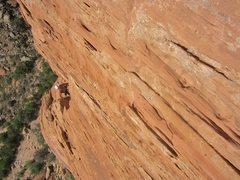 Rock Climbing Photo: Jose on route