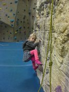 Rock Climbing Photo: Olivia traversing