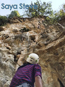 Rock Climbing Photo: Saya Steve. Photo by Shin Kaung Myat.