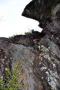 Rock Climbing Photo: Kevin MudRat MacKenzie on FA of the route.