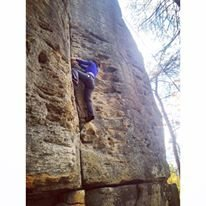 Rock Climbing Photo: Father and Son / trad @ RRG Kentucky