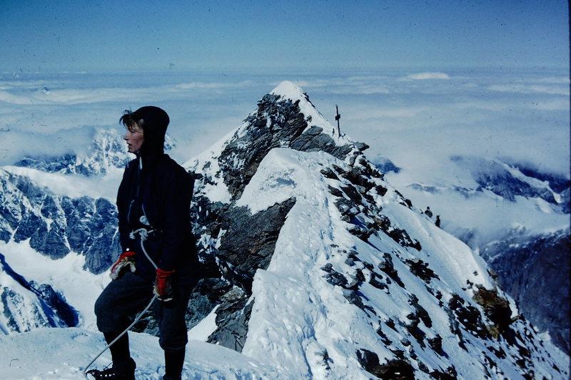 Rock Climbing Photo: Summit Matterhorn 1960, Marianne Marquardt