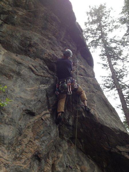 Rock Climbing Photo: Near the 2nd bolt.