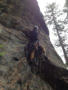 Rock Climbing Photo: Near the 2nd bolt.