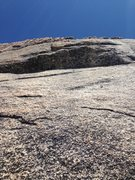 Rock Climbing Photo: The Crux. P4, 10 feet off the belay. Well protecte...