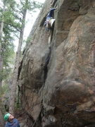 Rock Climbing Photo: On the gear portion near the bottom.