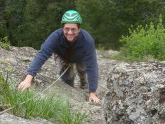 """Rock Climbing Photo: Ross on the easy section"""" between """"The B..."""