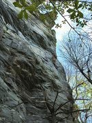 Rock Climbing Photo: Houston Hanner about to merge onto the regular Rec...