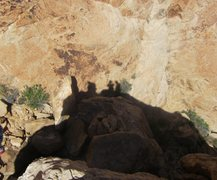 Rock Climbing Photo: Shadows of chaps on top.