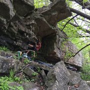 Rock Climbing Photo: A few moves in.
