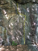 Rock Climbing Photo: Bottom of the route