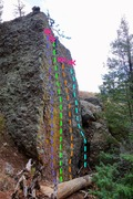 Rock Climbing Photo: The Wall of Mediocrity. Routes from left to right:...