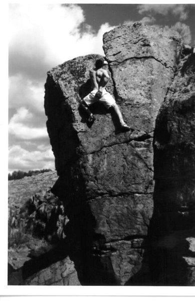 Rock Climbing Photo: Mike Gasch, 1999.