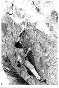 Rock Climbing Photo: Mike Gasch on The Pearlman  Problem, 1999.