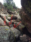 Rock Climbing Photo: There's a back-breaker right under the topout. A s...
