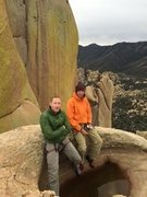 Rock Climbing Photo: Jared and I on top of  a sweet route