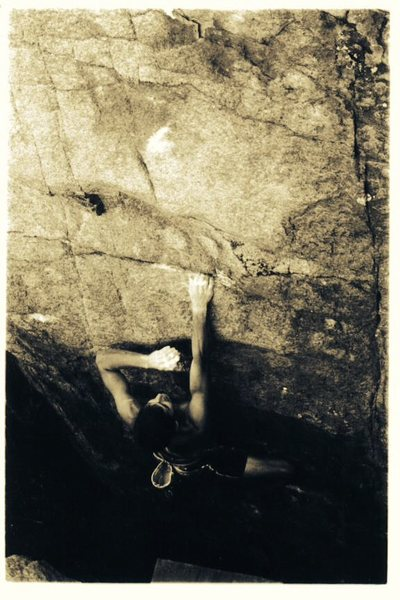 Rock Climbing Photo: JJ working hard on escaping the chasm, Wide Open G...