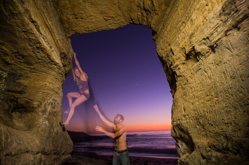 bouldering in La jolla, CA