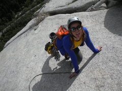 Rock Climbing Photo: Witness the terror in her eyes!!