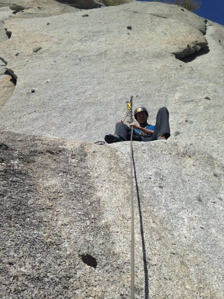 The Fudd Ledge Belay is so comfy I almost found him asleep!