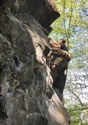 Rock Climbing Photo: Chris Johnson making moves on Scene of the Crime, ...