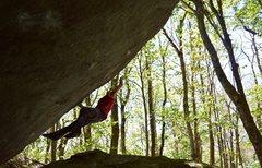 Rock Climbing Photo: Rick on Thunder Dyno