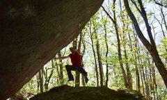 Rock Climbing Photo: Rick sticking the dyno