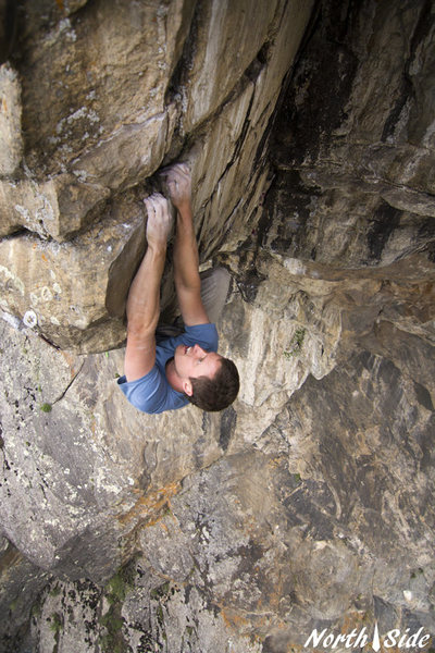 Rock Climbing Photo: Kevin Capps crushing Apoca-Lips Now!  Photo Keith ...