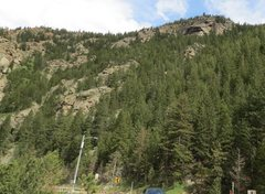 Rock Climbing Photo: The Bunker from the parking lot (at the east end o...