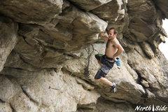Rock Climbing Photo: Monkeying around on one of many hand-swallowing ju...