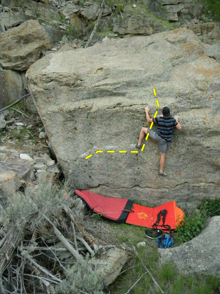 Rock Climbing Photo: Sam Perkins grabs the 2nd ascent of The Secret Gar...
