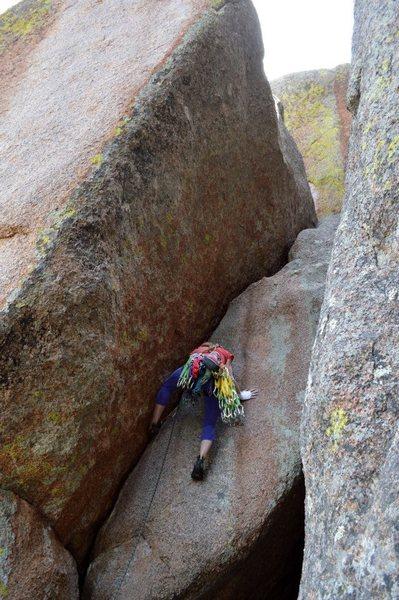 Rock Climbing Photo: next you do like this