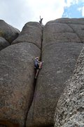 Rock Climbing Photo: hangin' loose and managing bits from the top as co...